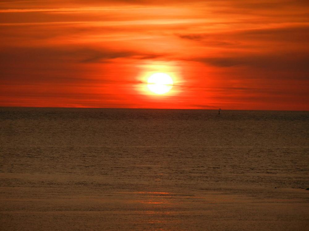 Sonnenuntergang auf Borkum 2012
