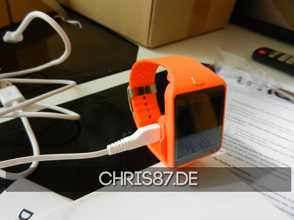 Samsung Gear 2 Neo in der Ladestation