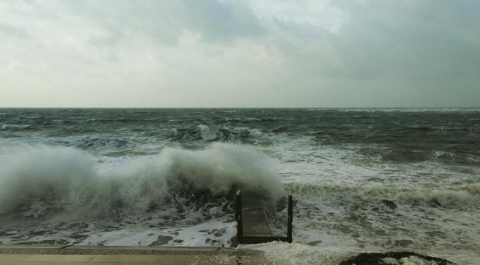 Sturm im Januar auf Borkum
