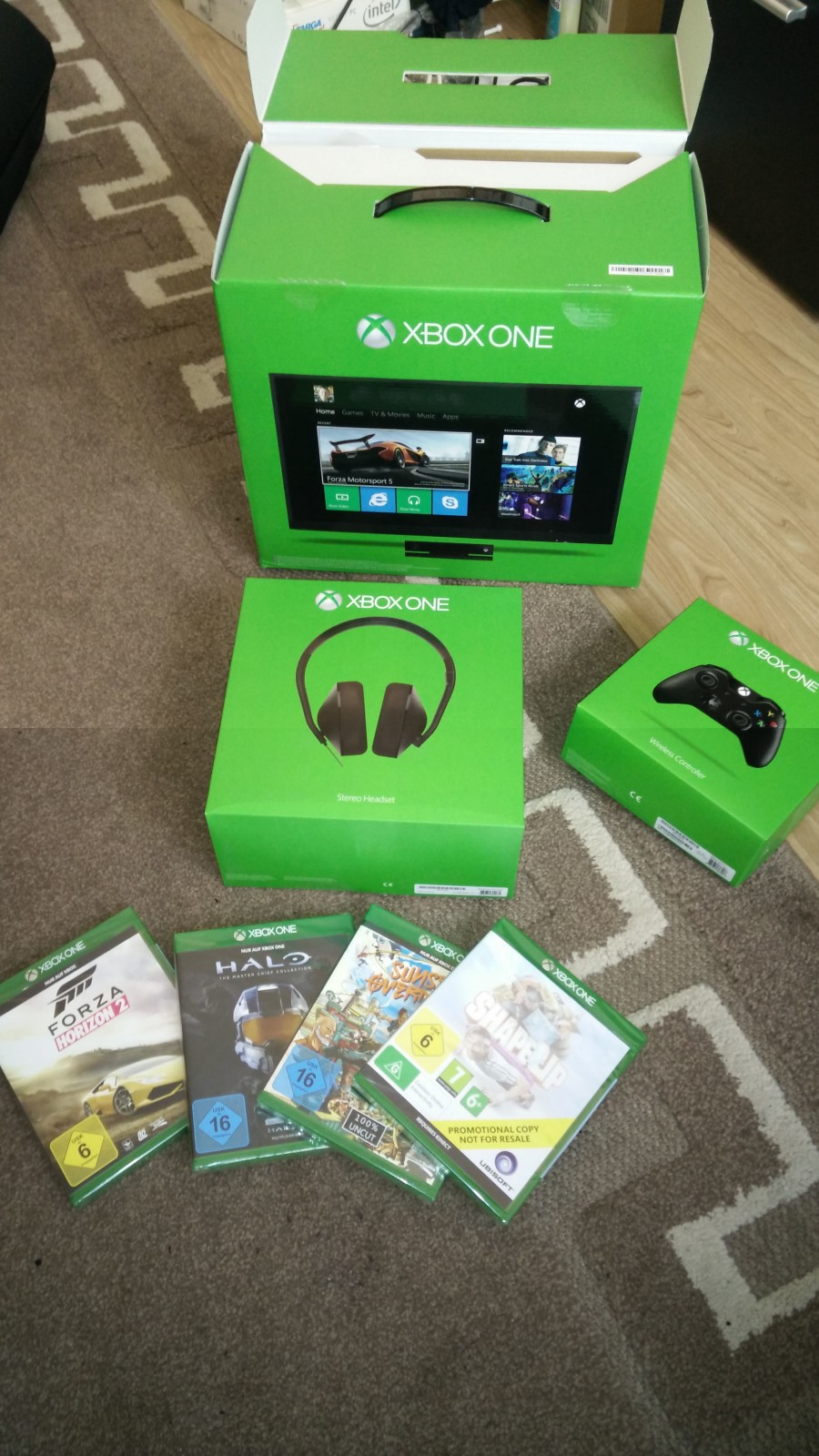 Xbox One Lieferumfang
