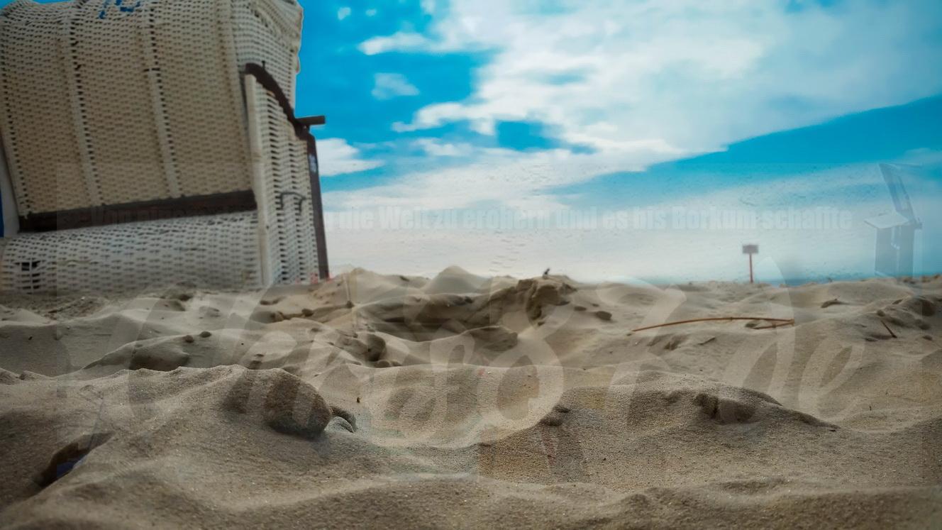 Detailaufnahme des Borkumer Sandstrands